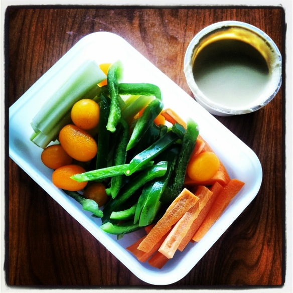 veggies with dip