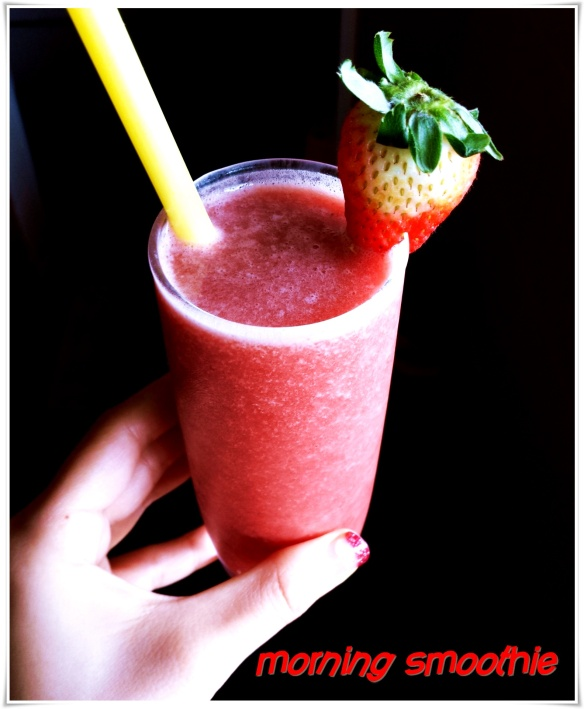 strawberry watermelon mint smoothie